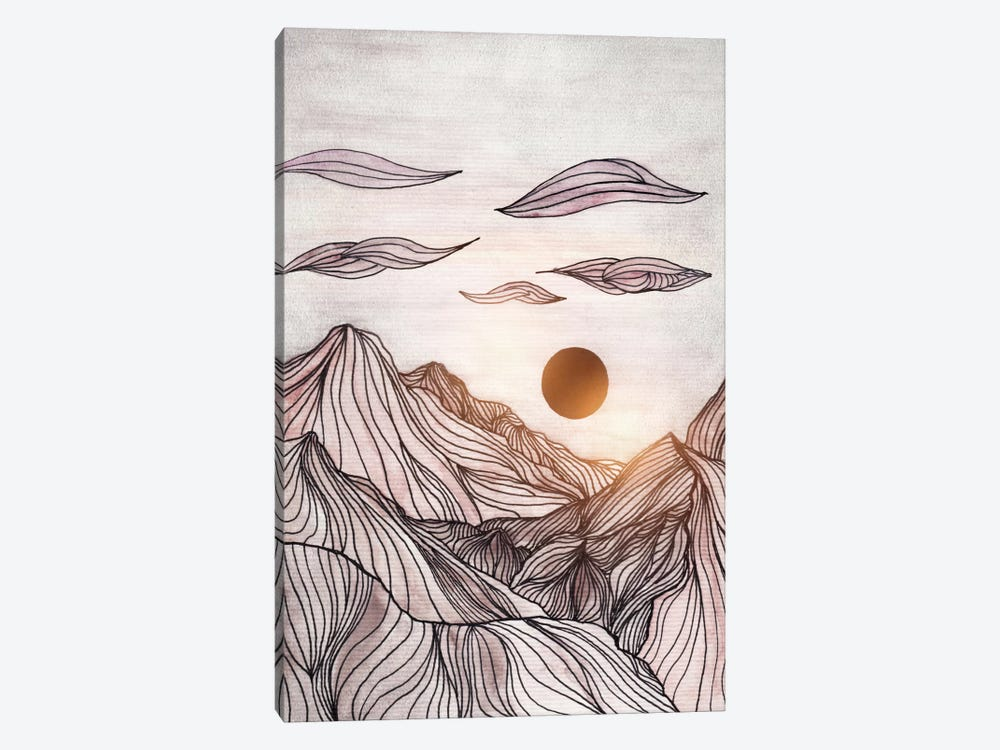 Lines In The Mountains I by Viviana Gonzalez 1-piece Art Print