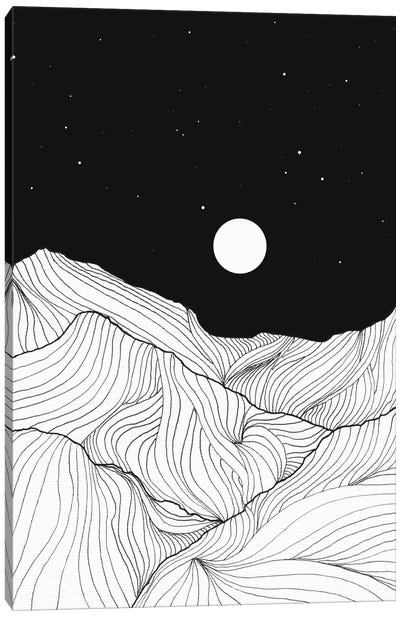 Lines In The Mountains II Canvas Art Print