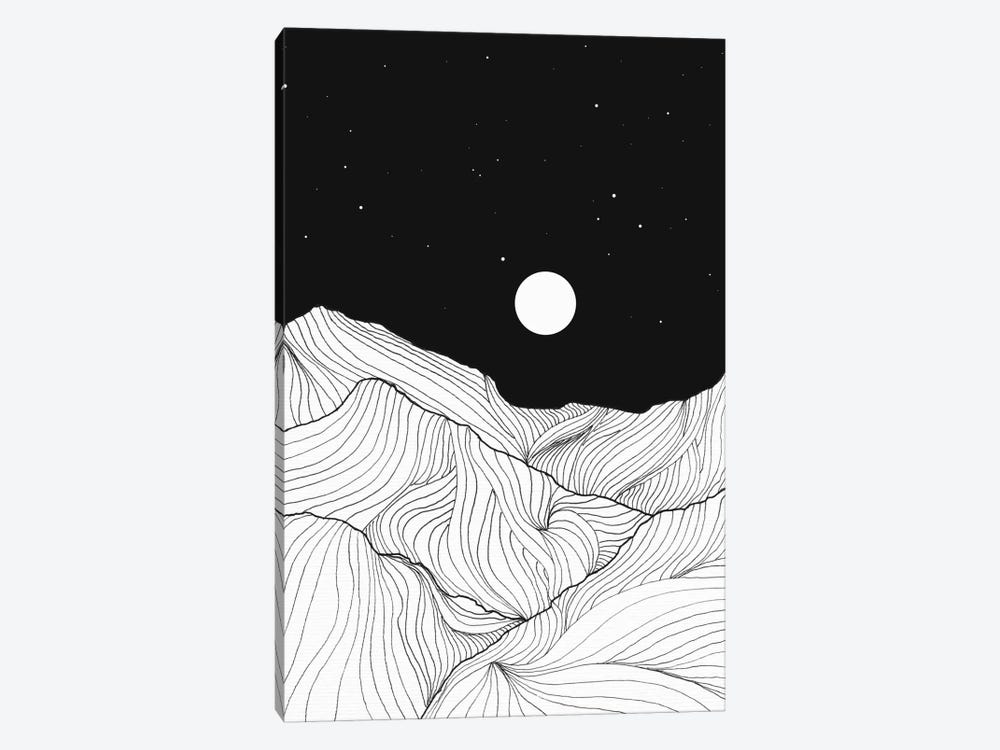 Lines In The Mountains II 1-piece Canvas Artwork