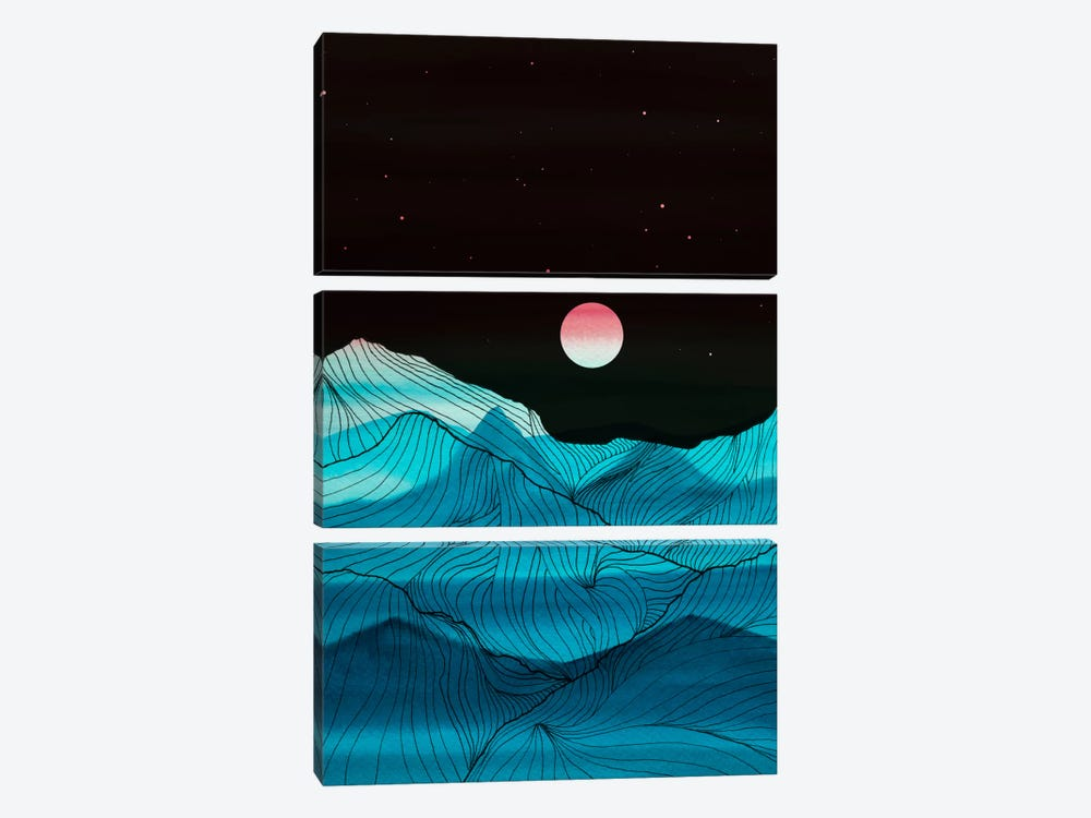 Lines In The Mountains XV by Viviana Gonzalez 3-piece Canvas Print