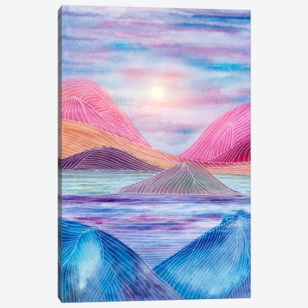 Lines In The Mountains XVII Canvas Print #VGO83} by Viviana Gonzalez Canvas Art Print