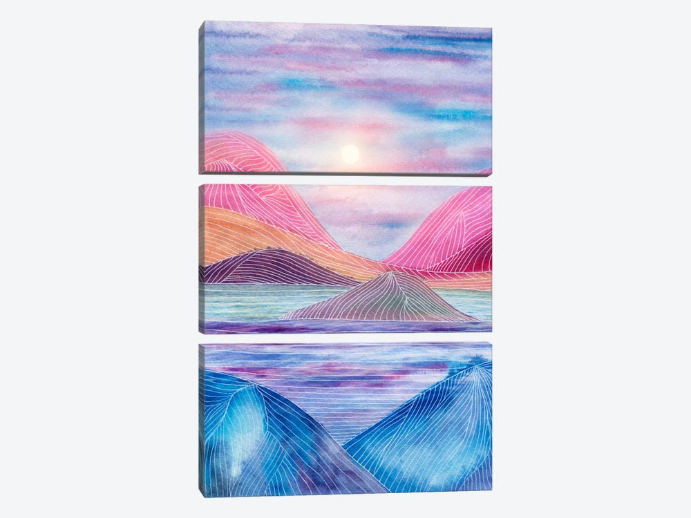 Lines In The Mountains XVII by Viviana Gonzalez 3-piece Canvas Art
