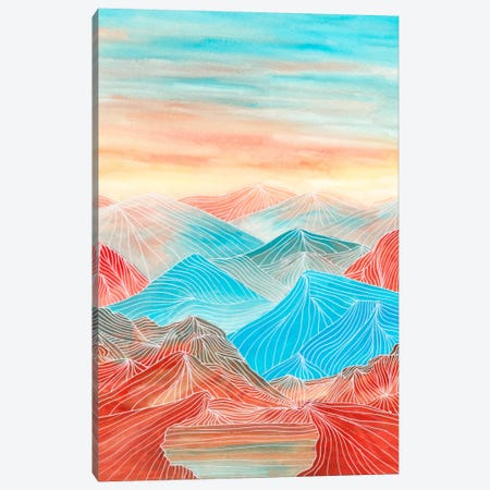 Lines In The Mountains XX Canvas Print #VGO85} by Viviana Gonzalez Canvas Wall Art