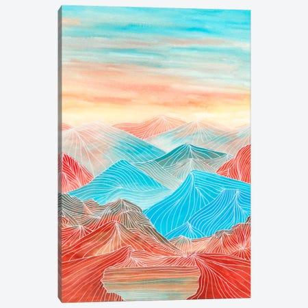 Lines In The Mountains XX Canvas Print #VGO85} by Viviana Gonzalez Canvas Wall Art