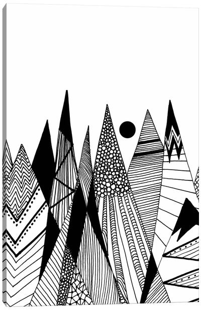Patterns In The Mountains II Canvas Art Print