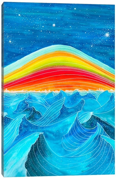 Rainbow Mountain Canvas Art Print