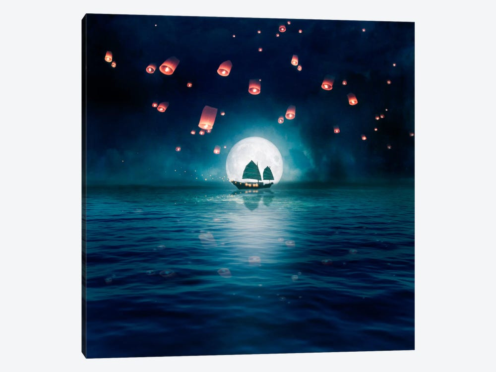 Travel Through The Lights 1-piece Canvas Art