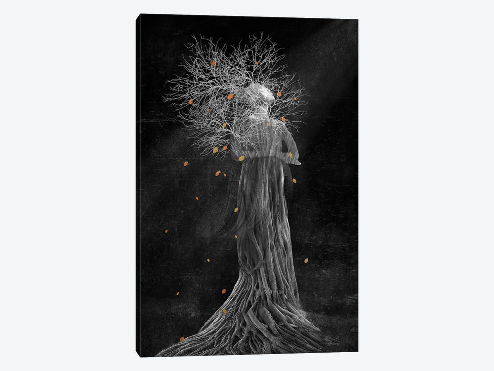 Dark Portrait In Autumn II by Viviana Gonzalez 1-piece Art Print