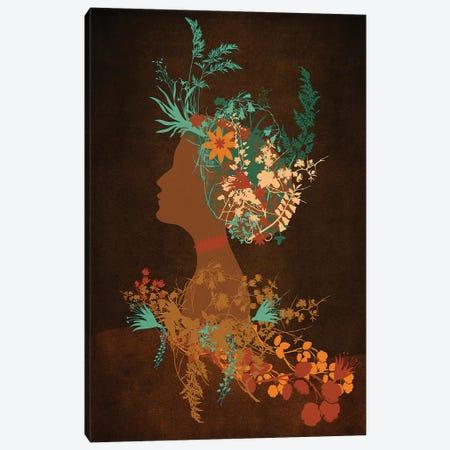 Mujer Floral Canvas Print #VGO9} by Viviana Gonzalez Canvas Artwork