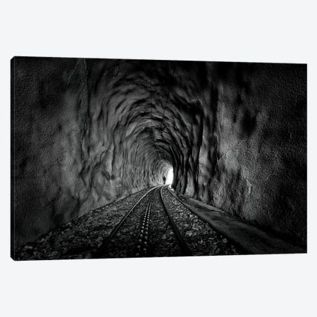 In The Bowels Of The Mountain In Black And White Canvas Print #VGU3} by Vito Guarino Canvas Print