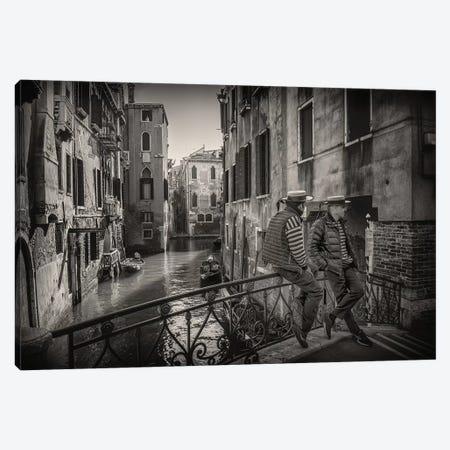 Gondolieri Canvas Print #VGU5} by Vito Guarino Canvas Wall Art