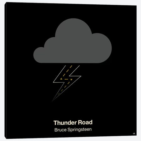 Thunder Road 3-Piece Canvas #VHE101} by Viktor Hertz Canvas Print