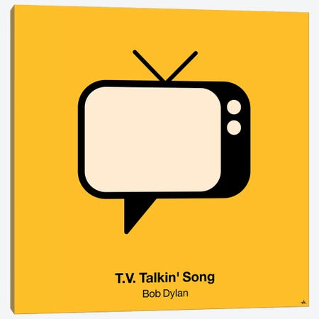 TV Talkin Song Canvas Print #VHE104} by Viktor Hertz Canvas Artwork