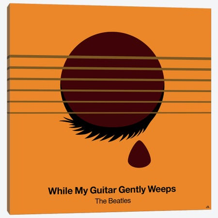 While My Guitar Gently Weeps Canvas Print #VHE107} by Viktor Hertz Canvas Artwork