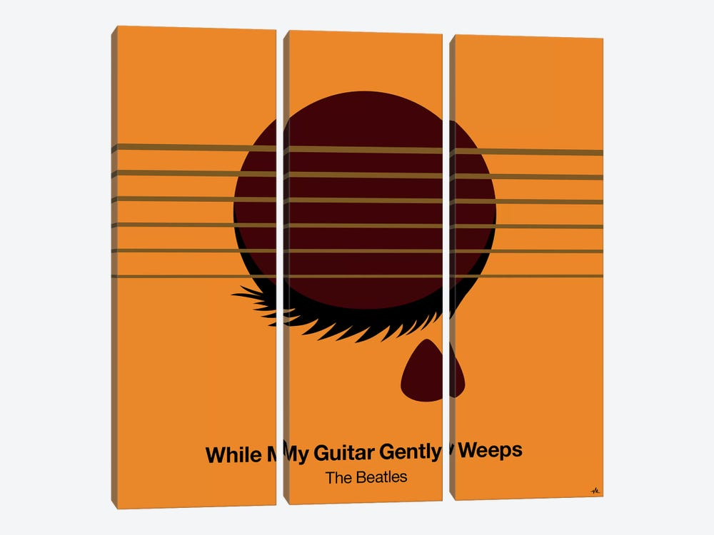 While My Guitar Gently Weeps by Viktor Hertz 3-piece Canvas Wall Art