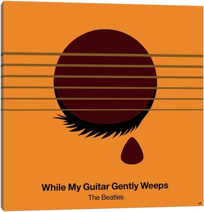 While My Guitar Gently Weeps Canvas Art Print