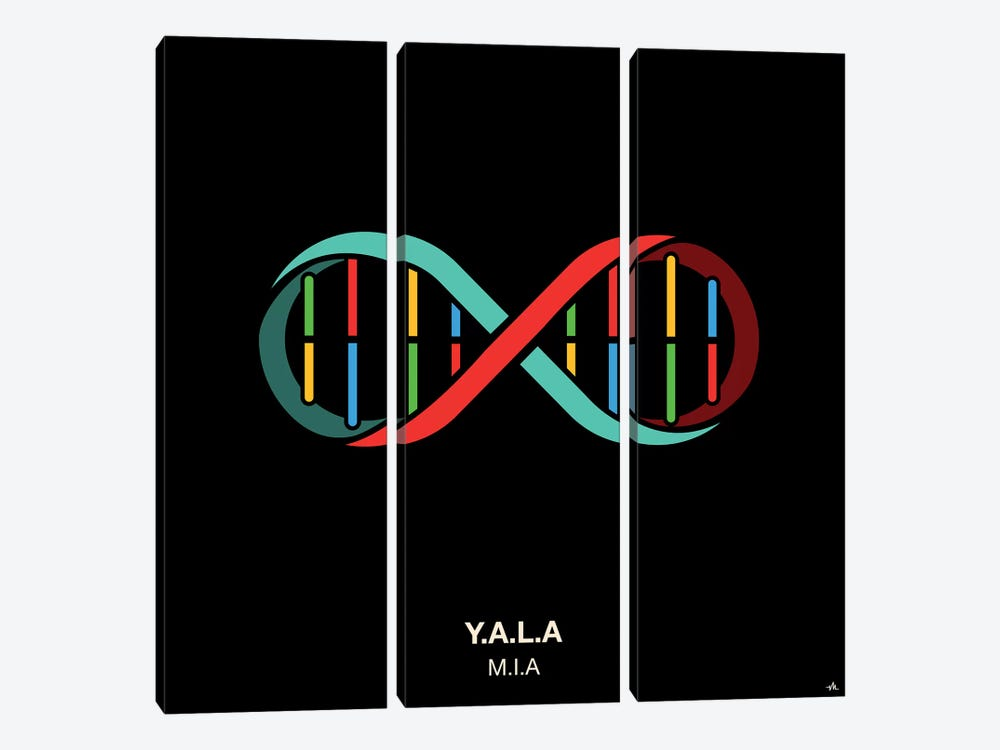 Y.A.L.A. by Viktor Hertz 3-piece Canvas Wall Art