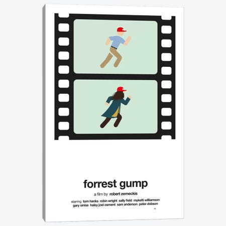 Forrest Gump Canvas Print #VHE10} by Viktor Hertz Canvas Wall Art