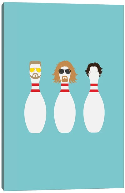 Bowling Dudes Canvas Art Print