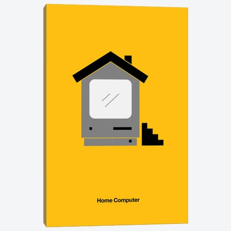 Home Computer Canvas Print #VHE126} by Viktor Hertz Canvas Art