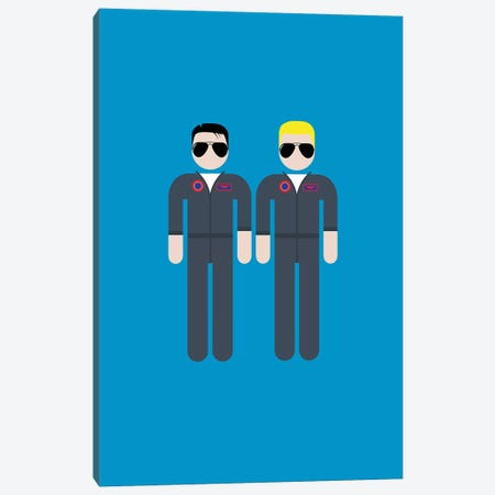 Maverick And Iceman Canvas Print #VHE132} by Viktor Hertz Canvas Wall Art