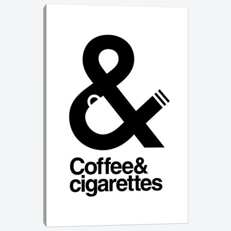 Coffee And Cigarettes Canvas Print #VHE154} by Viktor Hertz Canvas Art Print