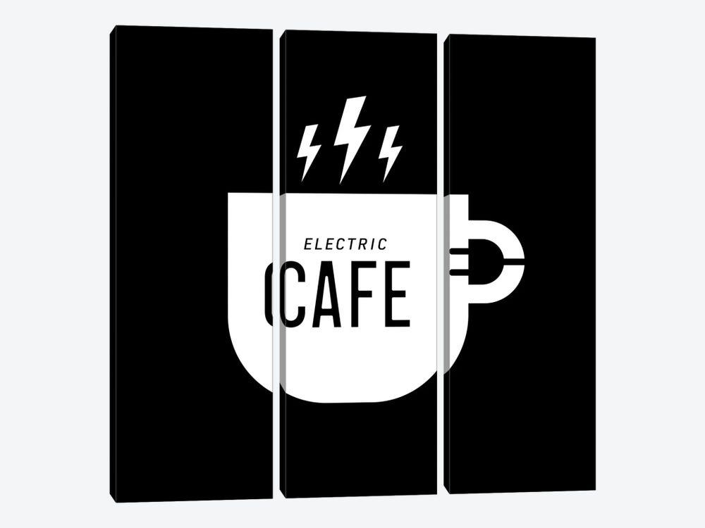 Electric Café by Viktor Hertz 3-piece Canvas Art Print
