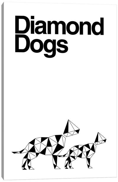Diamond Dogs In Black And White Canvas Art Print