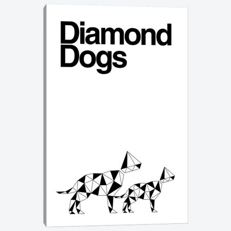 Diamond Dogs In Black And White Canvas Print #VHE160} by Viktor Hertz Art Print