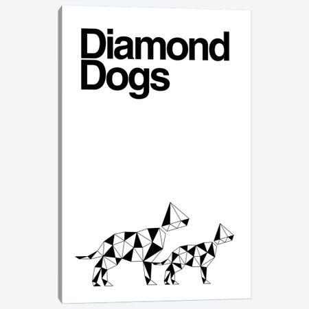 Diamond Dogs In Black And White Canvas Print #VHE160} by Viktor Hertz Art Print