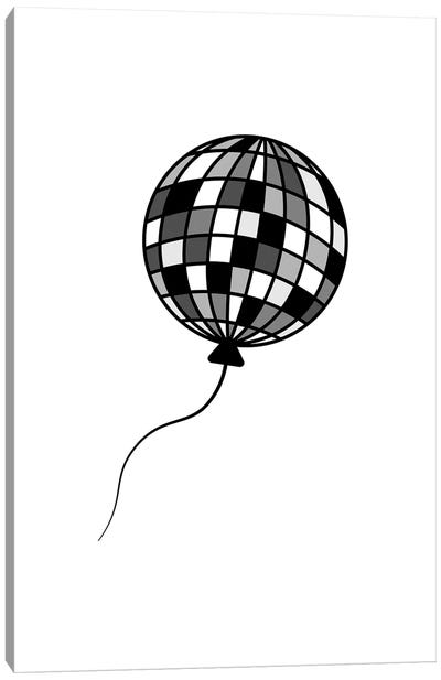 Goodbye Disco In Black And White Canvas Art Print