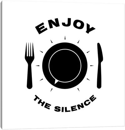 Enjoy The Silence In Black And White Canvas Art Print