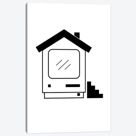 Home Computer In Black And White Canvas Print #VHE168} by Viktor Hertz Canvas Print