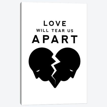 Love Will Tear Us Apart In Black And White Canvas Print #VHE172} by Viktor Hertz Canvas Art