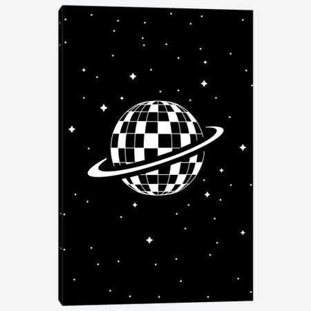 Planet Disco In Black And White Canvas Print #VHE175} by Viktor Hertz Canvas Art Print