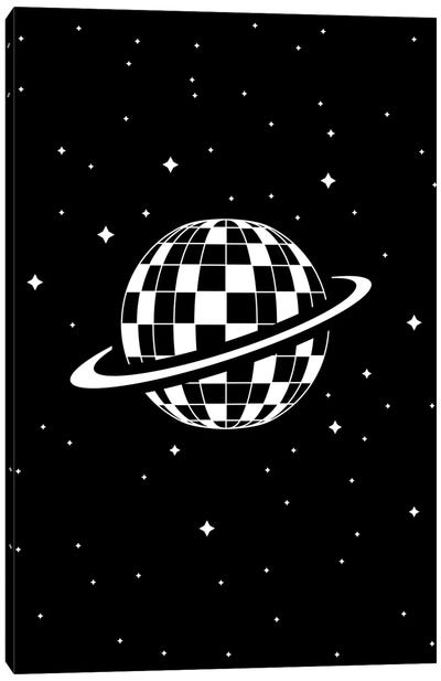 Planet Disco In Black And White Canvas Art Print