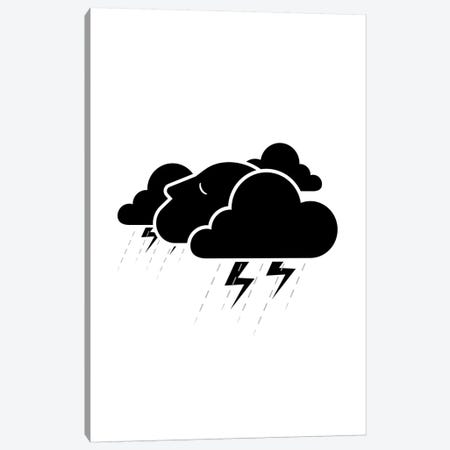 Stormy Mind In Black And White Canvas Print #VHE176} by Viktor Hertz Art Print