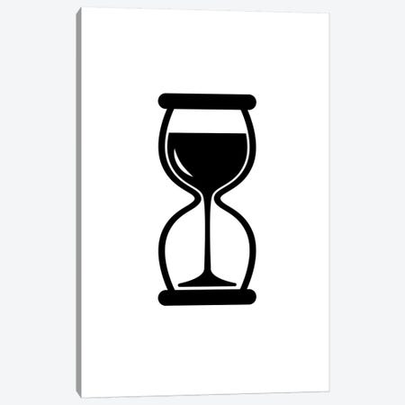 Time For Wine In Black And White Canvas Print #VHE179} by Viktor Hertz Canvas Artwork