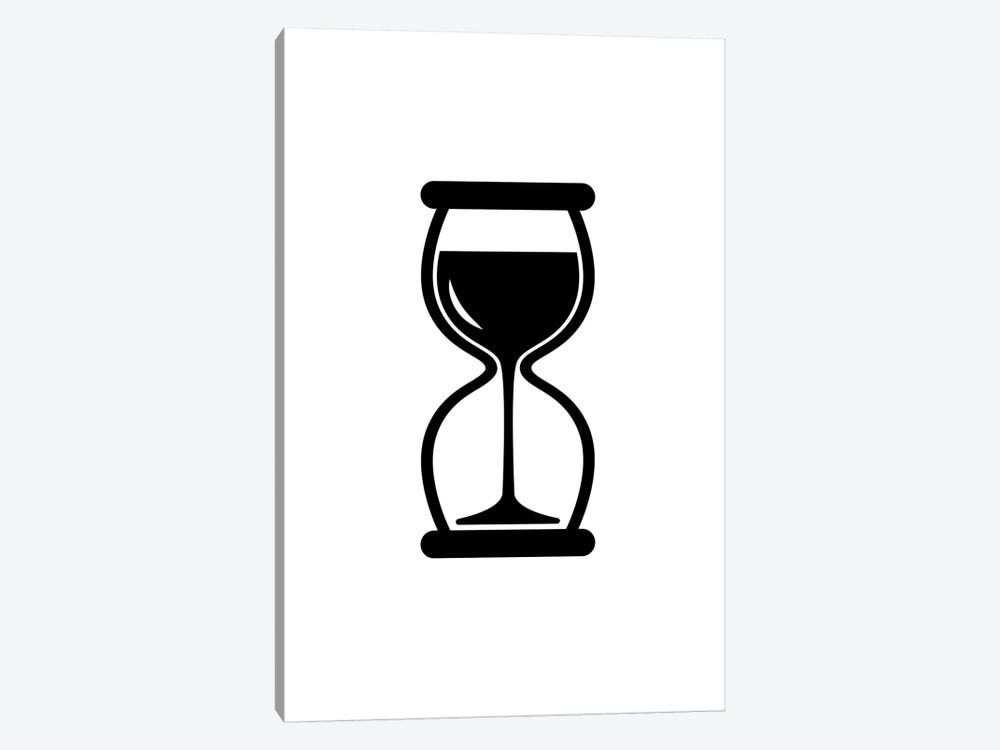 Time For Wine In Black And White by Viktor Hertz 1-piece Canvas Art Print