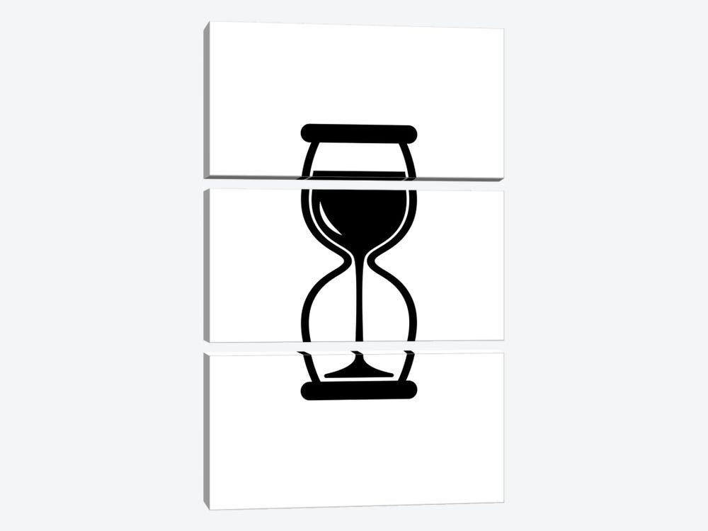 Time For Wine In Black And White by Viktor Hertz 3-piece Art Print