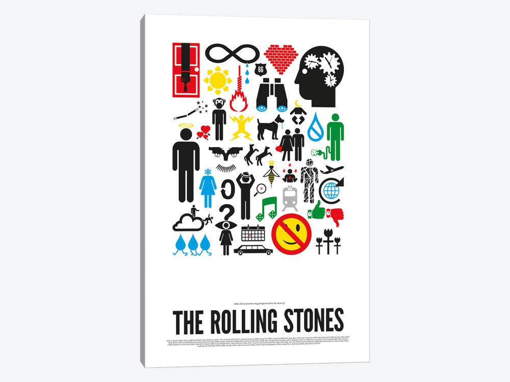 Rolling Stones by Viktor Hertz 1-piece Canvas Wall Art