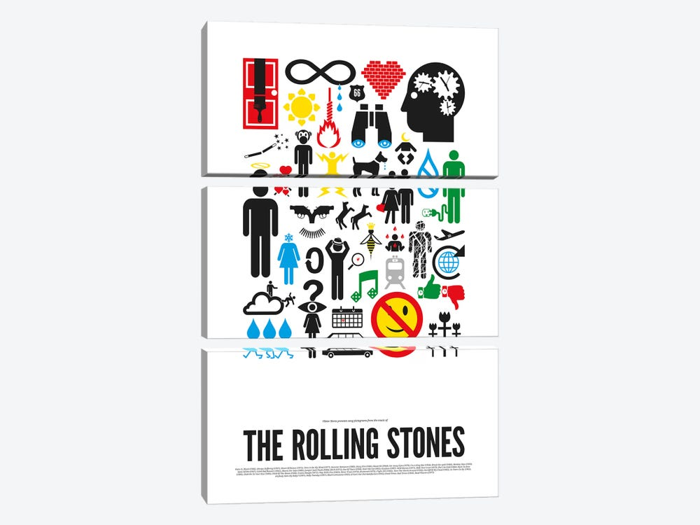 Rolling Stones by Viktor Hertz 3-piece Canvas Wall Art