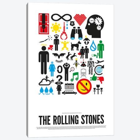 Rolling Stones Canvas Print #VHE17} by Viktor Hertz Art Print