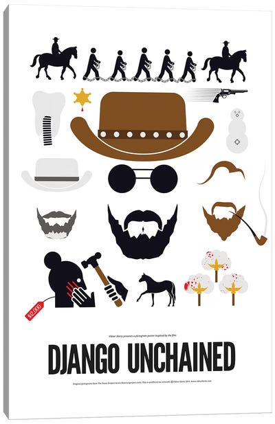 Django Unchained Canvas Art Print
