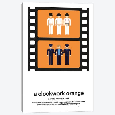 A Clockwork Orange Canvas Print #VHE1} by Viktor Hertz Canvas Art Print