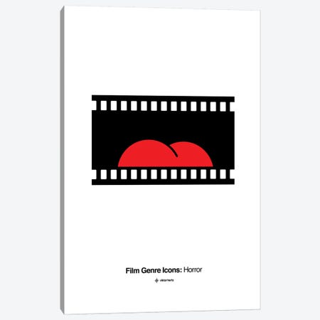 Horror Film Genre Icon Canvas Print #VHE208} by Viktor Hertz Canvas Art