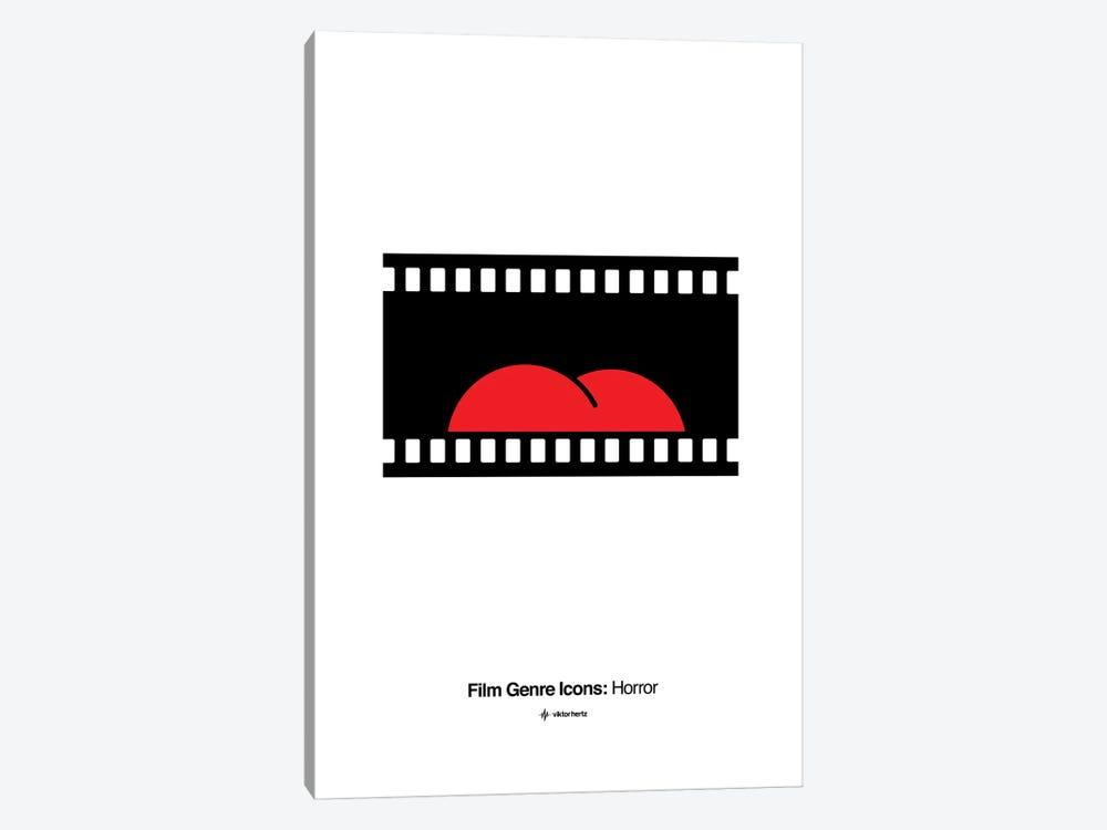 Horror Film Genre Icon by Viktor Hertz 1-piece Canvas Art Print