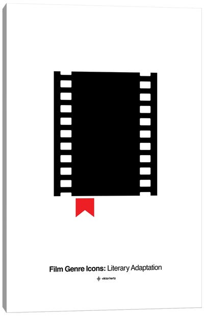Literary Adaptation Film Genre Icon Canvas Art Print