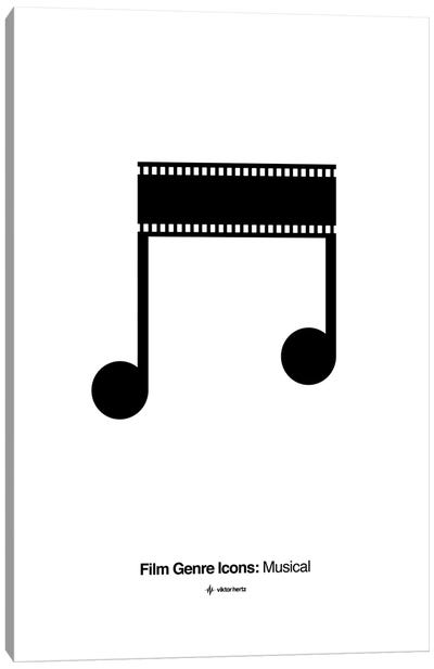 Musical Film Genre Icon Canvas Art Print