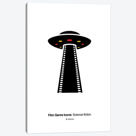 Science-Fiction Film Genre Icon Canvas Print #VHE214} by Viktor Hertz Canvas Artwork